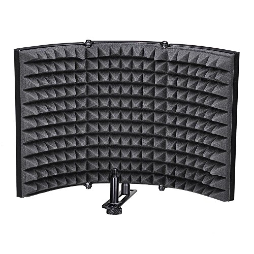 AW Studio Microphone Isolation Shield Acoustic Foam Panel Soundproof Filter Recording Panel Stand - Mobile Acoustic Panel