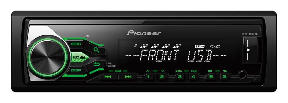 Pioneer MVH-180UBG Autoradio mit RDS, USB und Aux-Eingang fü r FLAC-Dateien (1-Din) schwarz