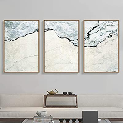 Framed for Living Room Bedroom Abstract Zen for x3 Panels, Quality Artwork, Incredible Handicraft