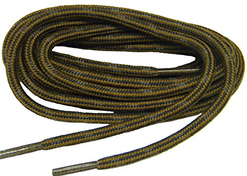 GREATLACES 60 inch Rust w/Black Kevlar (R) proTOUGH(TM) Boot Shoelaces 2 Pair Pack (Laces Round Boot)