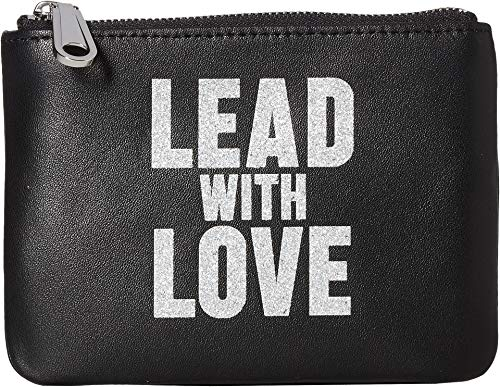 (Rebecca Minkoff Women's Betty Pouch - Lead w/Love Black/Silver One Size)