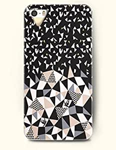 Phone Case For iPhone 5 5S Broken Pieces Falling Down On A Mountain - Hard Back Plastic Case / Geometric Pattern...