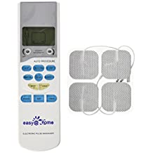 Easy@Home EHE009 TENS Handheld Electronic Pulse Massager Unit, Health Canada, FDA and OTC approved Pain Relief therapy Device - a portable Muscle Stimulator for Electrotherapy Pain Management | Pain Relief on the Shoulder, Waist, Joint, Back, Arm,Leg
