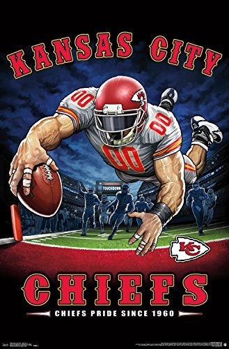Trends International Wall Poster Kansas City Chiefs End Zone, 22.375