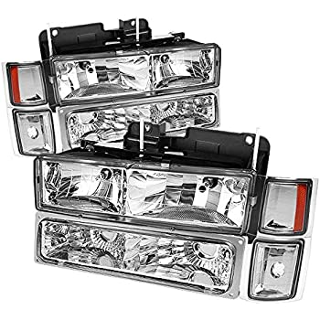 For 1994-1998 Chevy Tahoe Suburban Headlights + Corner + Bumper Lights Pair Left+Right 1995 1996 1997