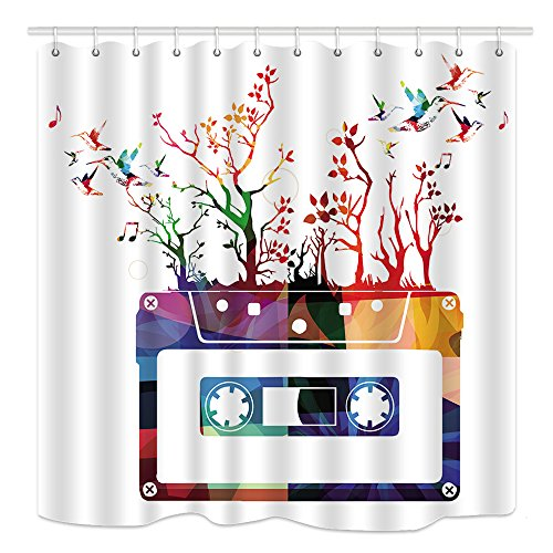 music shower curtain - 3