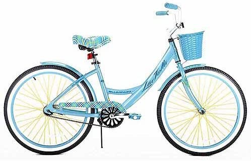 Kent 24 Girls , La Jolla Cruiser Bike, Light Blue, For Ages 12 and Up