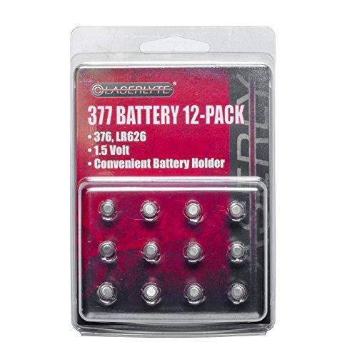 LaserLyte 377 Battery 12 Pack by LaserLyte