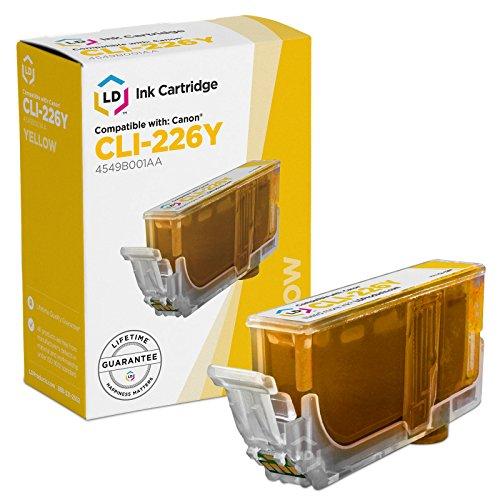 LD Canon Compatible CLI-226 (4549B001AA) Yellow Ink Cartridge for use in Canon PIXMA iP4820, iP4920, iX6520, MG5120, MG5220, MG5320, MG6120, MG6220, MG8120, MG8120B, MG8220, & More