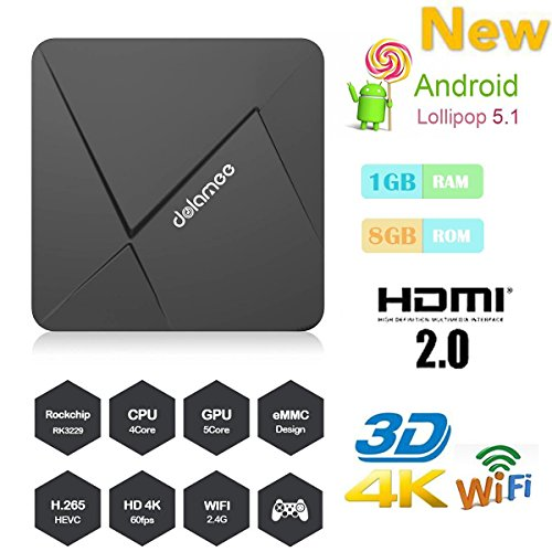 HONGYU [New Series] D5 Android TV Box 1GB /8GB Rockchip RK3229 Quad Core 32bit Android 5.1 with 2.4G Wifi 100M LAN 4K HD H.265 HDMI OTT TV Player -  Shenzhen HongYu Technology Co., Ltd., HONGYU- TV BOX D5-1+8G