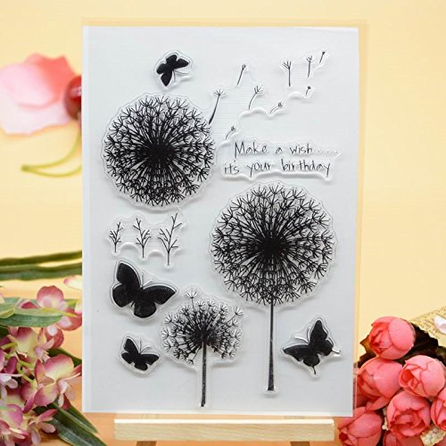 Welcome to Joyful Home 1pc Butterfly Dragonfly Clear Stamp for Card Making Decoration and Scrapbooking