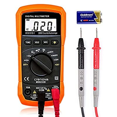 Crenova MS8233D Auto-Ranging Digital Multimeter