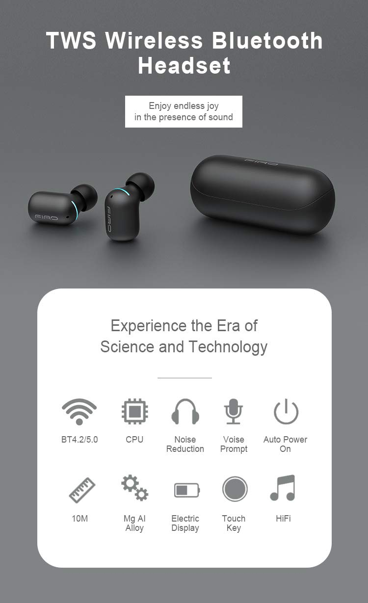 Soul Music Firo TWS Bluetooth Touch Control Earbuds with Charging Case (Black)