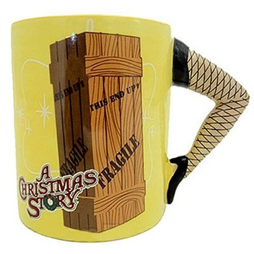 A Christmas Story Leg Handle Coffee Mug Lamp Xmas Movie Sculpted Cup Fragile