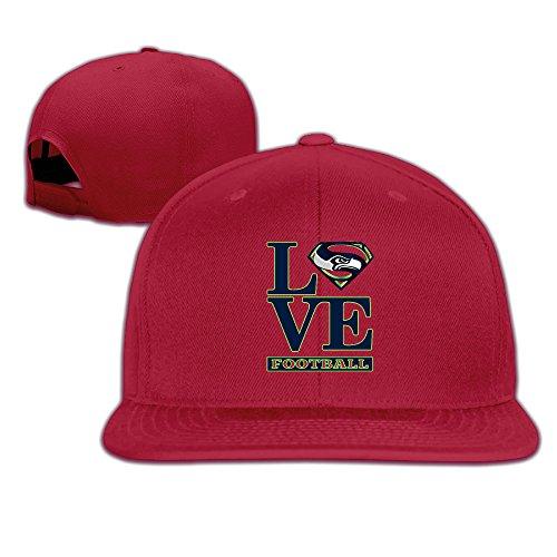 [ElishaJ Snapback Seattle Sport Football Logo Trucker Caps Hat Red] (Mens Dallas Cowboy Football Costumes)