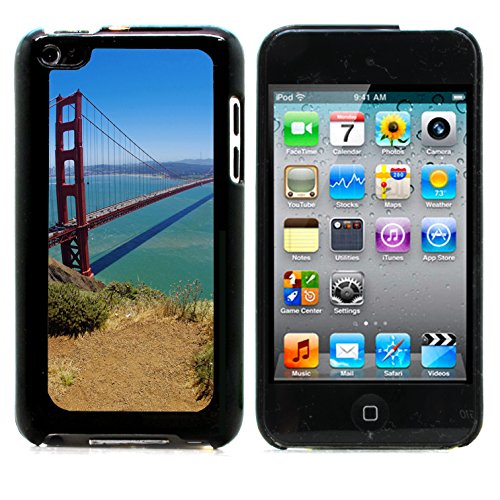 Graphic4You San Francisco Golden Bridge Postcard Design Hard Case Cover for Apple iPod Touch 4th Generation 4G