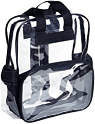 Standard Durable Clear Backpack See Through Student Transparent School Bookbag Small, Age 3-10