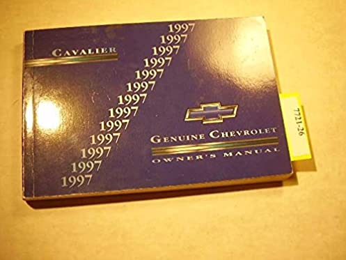 1997 chevy chevrolet cavalier owners manual book chevrolet amazon rh amazon com 2003 Cavalier 1997 Cavalier 4 Door
