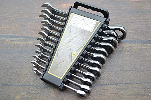 [デジトピア] DIGITOPIA ギアレンチ 8~22mm 12本セット ラチェットレンチ フレックスラチェット フレックス コンビネーションレンチ 工具 両用ヘッド DIY