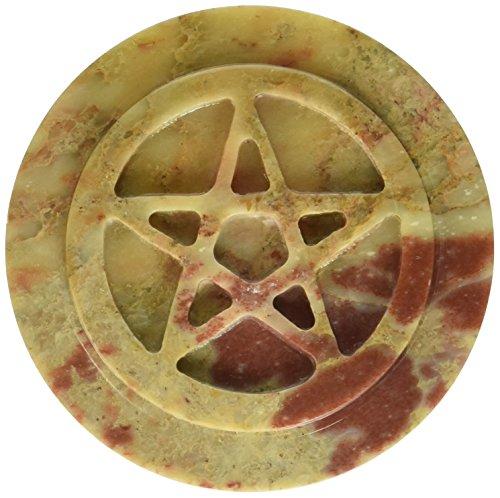 Soapstone Pentacle Altar Tile