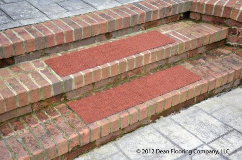 Dean Premium Indoor Outdoor Carpet Non Skid Stair Treads Terra Cotta 24 X 9 Set Of 4