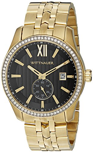 Wittnauer Men's WN3032 22mm Stainless Steel Gold Watch (Wrist Gold Watch Wittnauer)