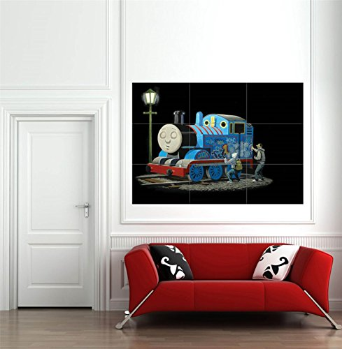 BANKSY THOMAS TANK ENGINE STREET GIANT WALL ART NEW POSTER PRINT PICTURE (Thomas Tank Engine Pictures)