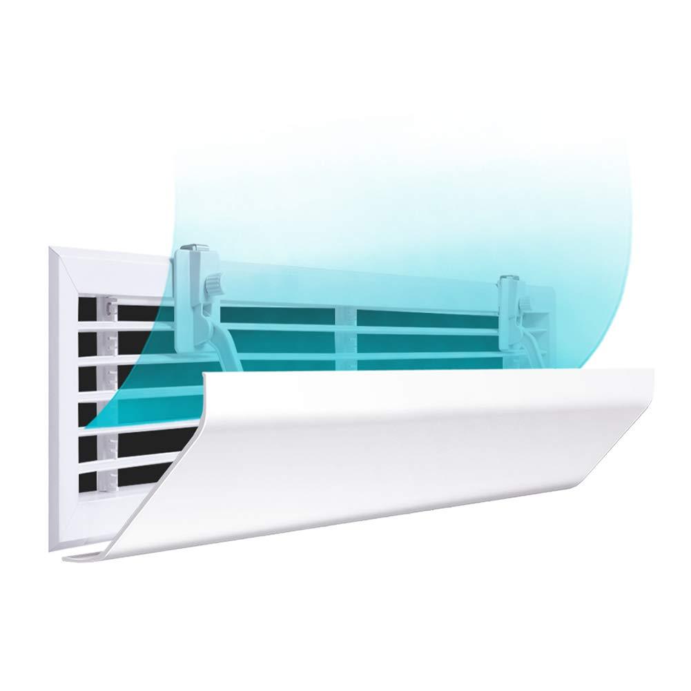 Aria condizionata parabrezza Cappuccio Del Deflettore Universal Central Air Conditioning Wind Deflector Preventing Direct Air Conditioner Outlet (dimensioni   Length100-120 cm)