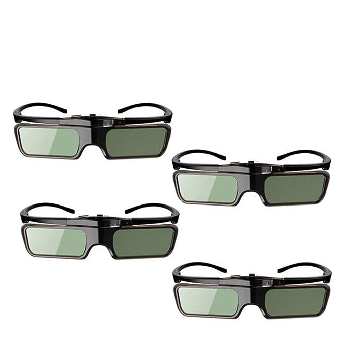 3D Glasses4Pcs Obturador Activo Gafas 3D Dlp para Xgimi Z4X / H1 ...