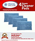 Set of 4 Blue Steam Pads fits HAAN SI-25, SI-40, SI-60, SI-70, SI-35 Steam Mop, SV-60, or MS-30 Steam Cleaner Floor Sanitizer Models; Replaces HAAN Part RMF-4, Appliances for Home