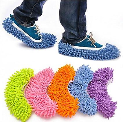 RGAta Casa suelo calcetines zapatos Mop zapatillas Lazy rápido pulido limpieza polvo limpieza 10 unidades/