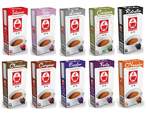 100 Nespresso Compatible Coffee Capsules Variety Pack - 10 Different Blends - OriginalLine