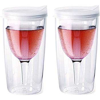 Amazon Com Vino2go Double Wall Insulated Acrylic Wine