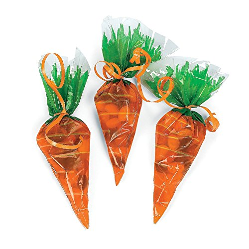 Cellophane Carrot Shaped Goody Bags dozen product image