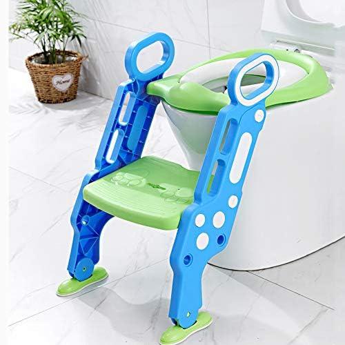 KJGFD WC niños Aseo Asiento con Escalera Orinales para niños Asient Orinales para Asientobebe Orinal Infantil Formación Antideslizante/Plegable/niña de 1-7 años,b: Amazon.es: Hogar