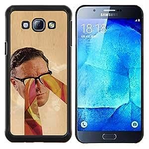 "Be-Star Único Patrón Plástico Duro Fundas Cover Cubre Hard Case Cover Para Samsung Galaxy A8 / SM-A800 ( Retrato Gafas Psychedelic Art Colores Hombre Cara"" )"