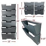 Wall Mount Hanging File Holder Organizer 6 Pack