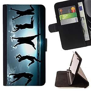 BullDog Case - FOR/LG Nexus 5 D820 D821 / - / Happy Dancing People /- Monedero de cuero de la PU Llevar cubierta de la caja con el ID Credit Card Slots Flip funda de cuer