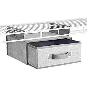 MDesign Fabric Hanging Closet Storage Organizer Drawer For Wire Shelving