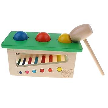 Sharplace Infantil De Bola Golpe Madera Juego Juguete Montessori WEDIY9H2