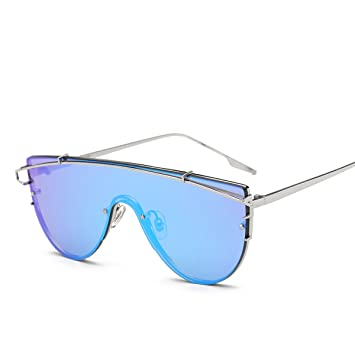 HAOYUXIANG Mode Persönlichkeit Big Frame Metall Sonnenbrillen,C3