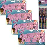 4-pack Disney Doc McStuffins Jewelry Set for Kids - Doc McStuffins Days of the Week Sticker Earrings and Rings Set for Kids Party 4-pack