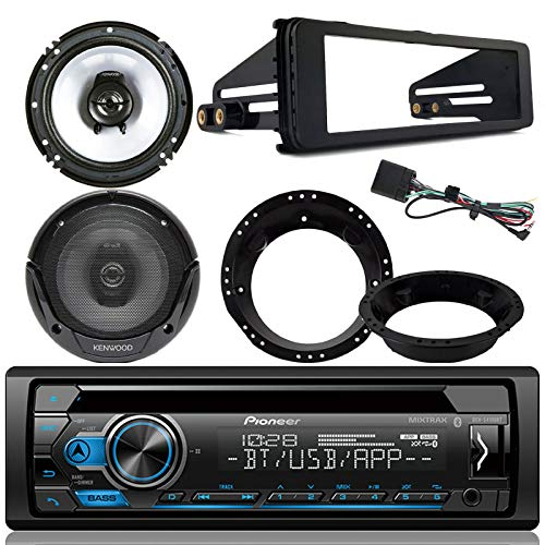 - Pioneer Bluetooth CD Stereo Audio Receiver - Bundle Combo with 2x Kenwood 6.5