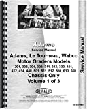 Adams 511 Grader Service Manual (Chassis)