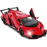 Red Lamborghini Veneno Battery Operated Remote Control Car – Kids Favorite Toy -1/14 Scale