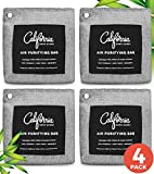Appliances : Bamboo Charcoal Air Purifying Bag 4-Pack - 200g Activated Charcoal Odor Absorber Moisture Absorber - Car Air Freshener - Odor Eliminators for Home - Car Freshener - Charcoal Bags Odor Absorber