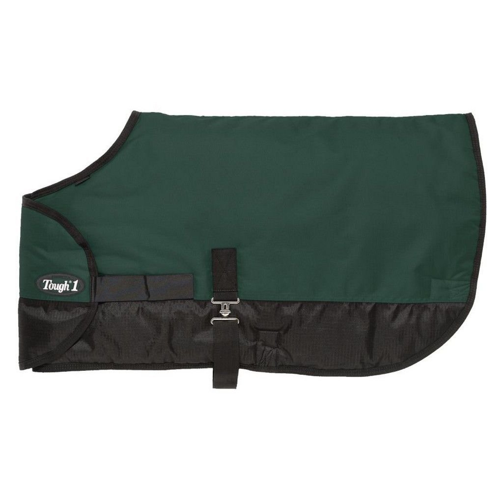 Tough 1 600D Waterproof Poly Adjustable Foal Blanket, Hunter Green, Large