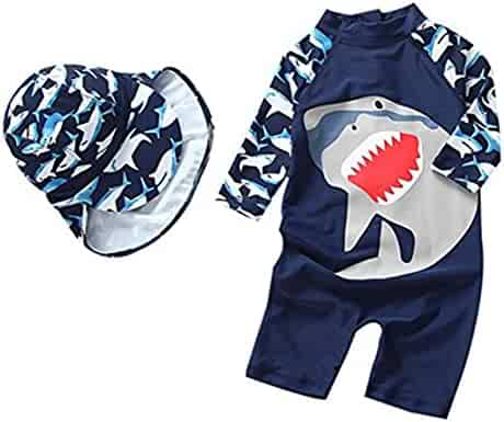 65d4195f82577 Kids Baby Boys Girl One-Pieces Rash Guard Long Sleeve Swimsuit Sun  Protection Bathing Suit