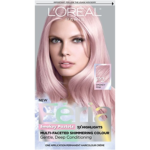 L'Oréal Paris Feria Pastels Hair Color, P2 Rosy Blush (Smokey Pink)