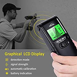 Stud Finder Wall Scanner - 4 in 1 Electric Multi Function Wall Detector Finders with Digital LCD Display, Center Finding Stud Sensor & Sound Warning for Studs/Wood/Metal/Live AC Wires Detection